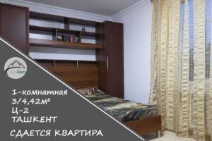 Снять 1-комнатную квартиру на Ц-2 в Ташкенте